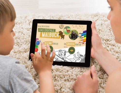 Neues Digitales Malbuch für Kinder